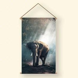 Textielposter olifant