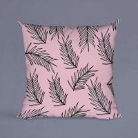 Buitenkussen pink leafs