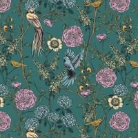 Wandkleed flora groen