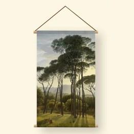 Textielposter italiaans landschap