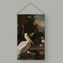Textielposter pelikaan