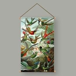 Textielposter Kolibries Ernst Haeckel