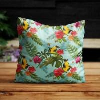Tuinkussen flora en birds
