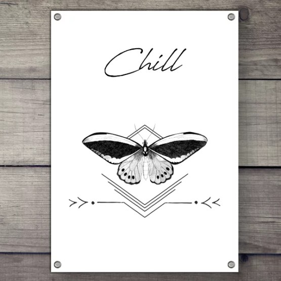 Tuinposter Chill