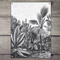 Hand drawing tuinposter palm