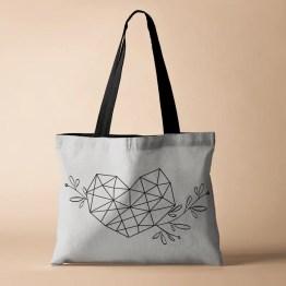 Hart Geometrisch tas