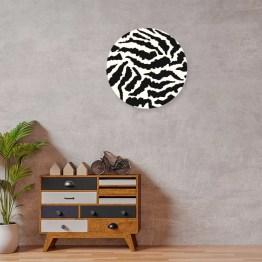 muurcirkel Zebra patroon