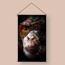 Stilleven aap textielposter