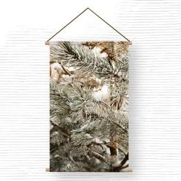 Textielposter sneeuw