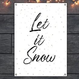 Tuinposter let it snow