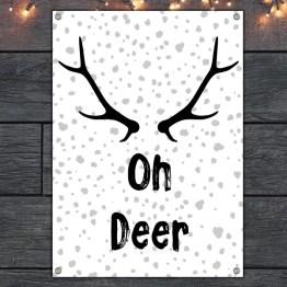 Oh deer tuinposter