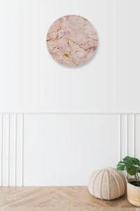 Muurcirkel Marble goud