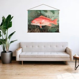 Textielposter red snapper