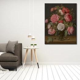 Jacob van Hulsdonck rozen in glazen vaas