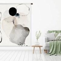 wandkleed_Abstract watercolor