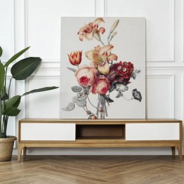 Canvas akoestisch paneel flowers
