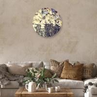 Vintage flower muurcirkel