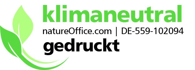 natureOffice Klimaneutrales Druckerzeugnis Logo