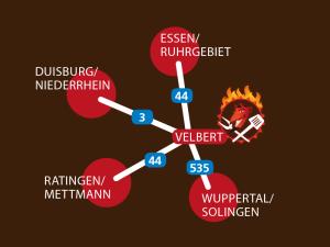Anfahrt zum Grillteufel: grill & bbq Shop Niederberg
