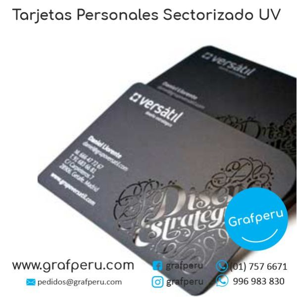 TARJETAS PERSONALES SECTORIZADAS UV MATE BRILLO DE PRESENTACION BARATAS GRAFPERU LIMA PERU