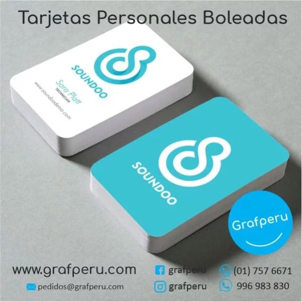 TARJETAS PERSONALES BOLEADAS MATE BRILLO DE PRESENTACION BARATAS GRAFPERU LIMA PERU
