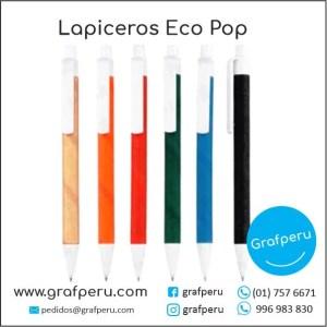 LAPICEROS ECOLOGICOS PUBLICITARIOS ECO POP2 BARATOS ECONOMICOS GRAFPERU LIMA PERU
