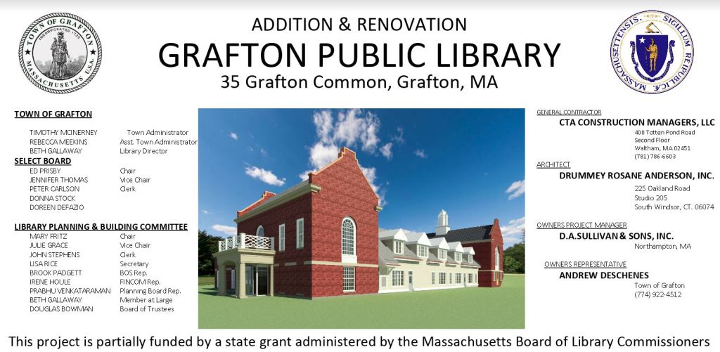 library construction project sign
