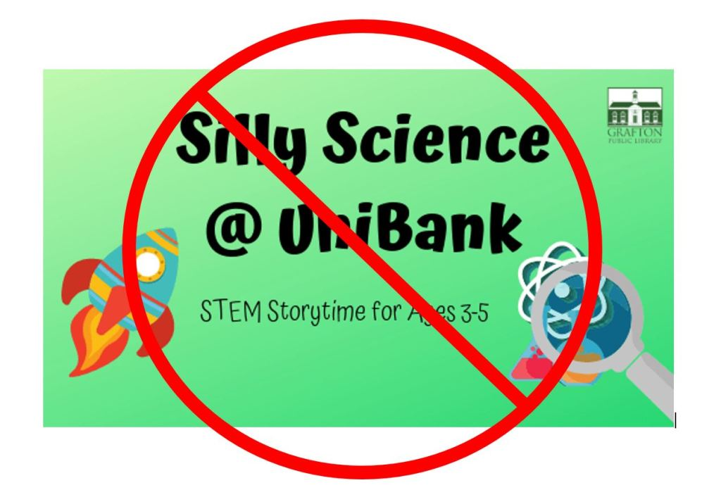 Silly Science at UniBank has been cancelled for Monday January 27 due to staff illness.