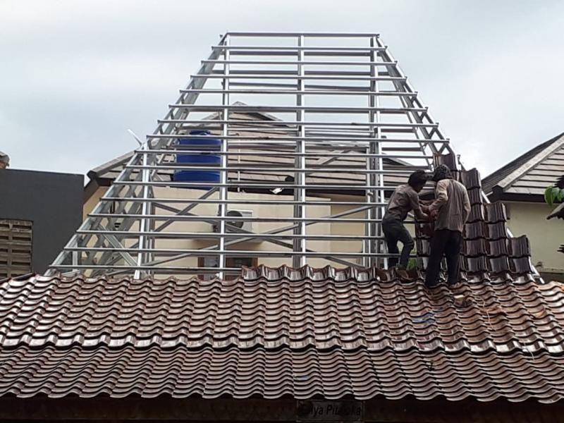 joglo dari baja ringan rangka atap genteng graha288