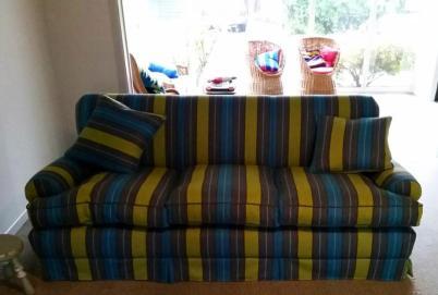 Stripey sofa