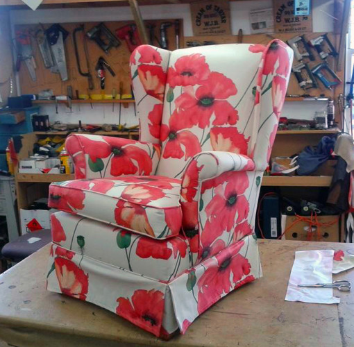 Classic armchair in Poppy fabric