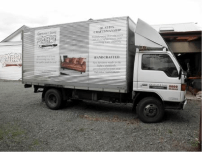 upholstery truck delivery by graham and sons martinbrough