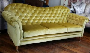 chartreuse sofa custom built by grahama and sons