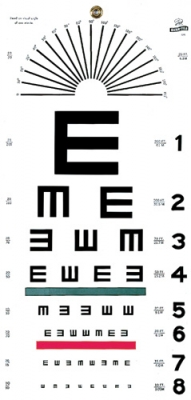 GF: Illiterate/Tumbling E Eye Chart