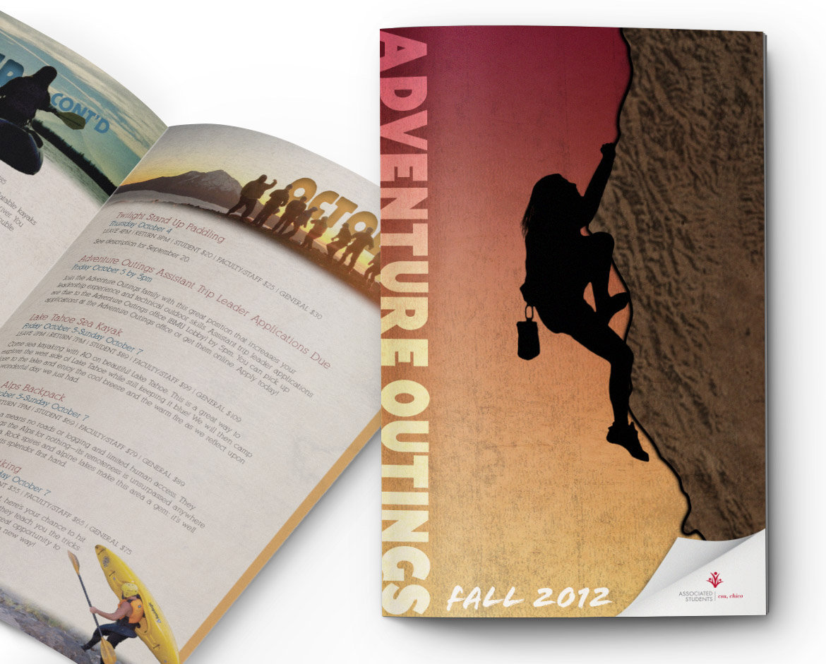 Graham Nichols Design - Graphic Designer, Los Angeles, CA - Brochure Design - Adventure Outings, Chico State