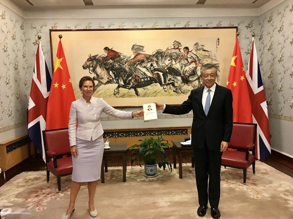 The new British Ambassador to China, Caroline Wilson,