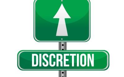 """DISCRETION – AGAIN"""