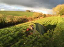 Last night's pitch outside Crediton