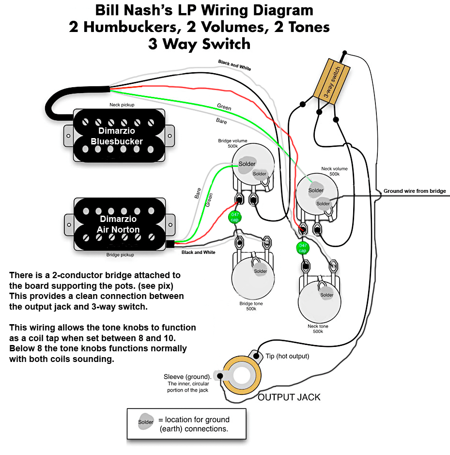 medium resolution of nash les paul style wiring diagram