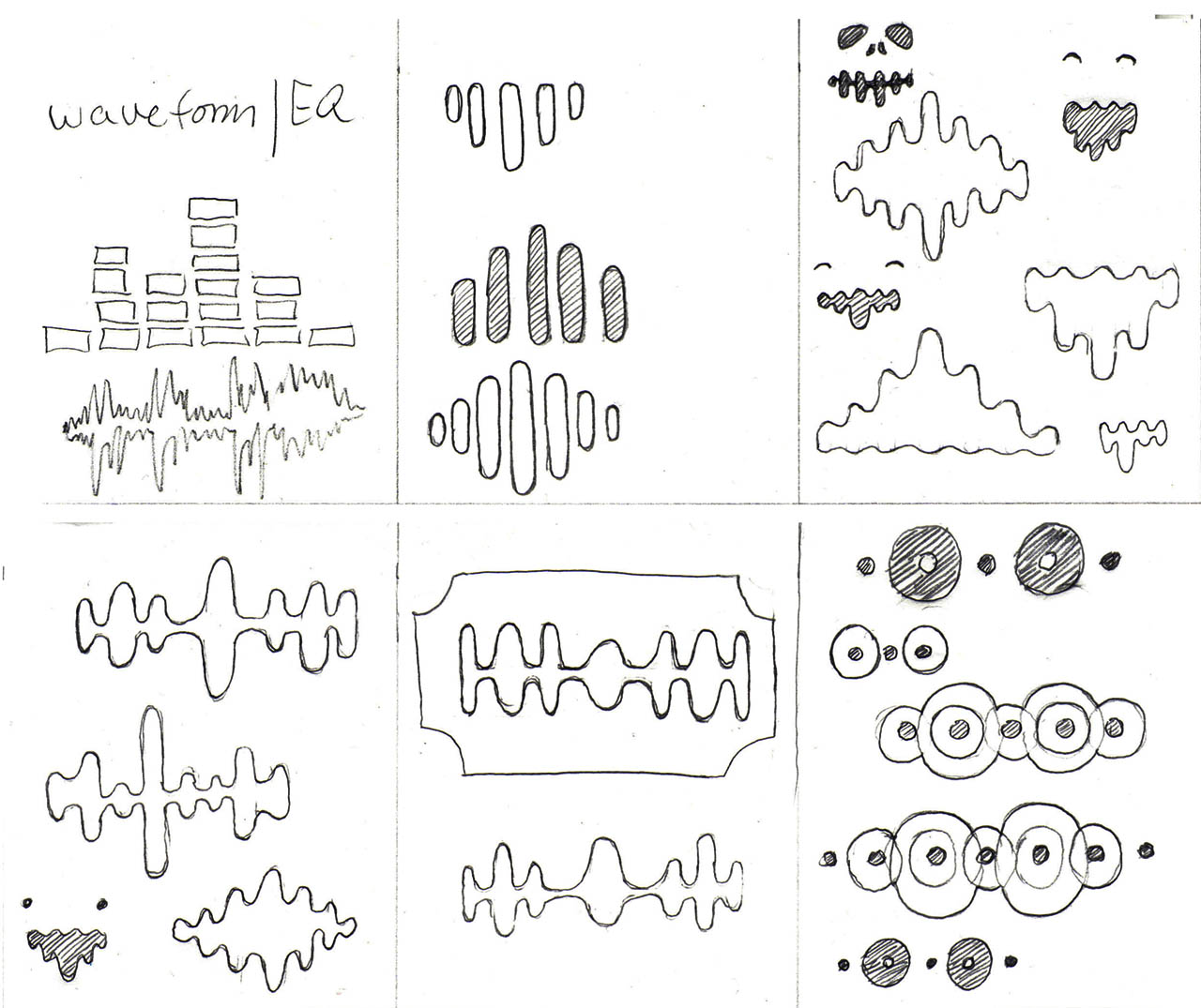 Electronic Music Site Logo Sketches