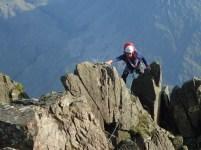 The top, scrambling section of Needle Ridge