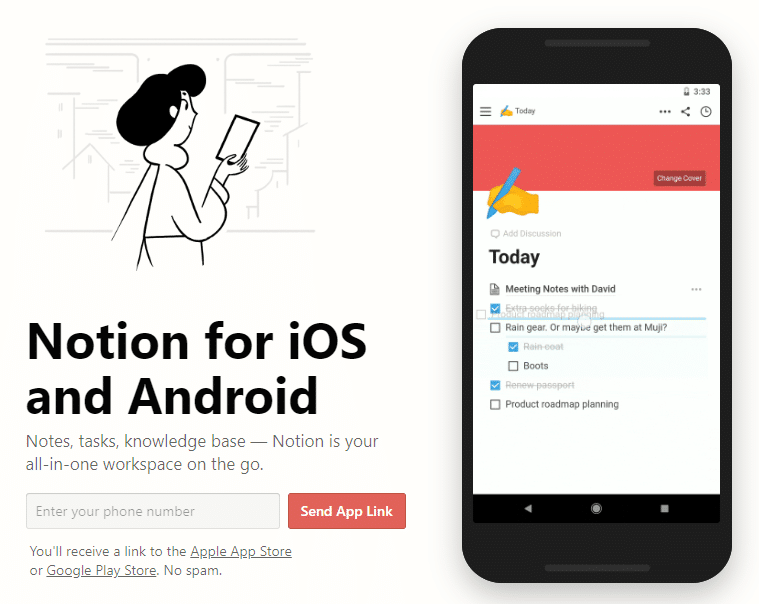 Notion Android IOS