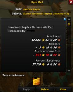 Darkmantle cap SOLD