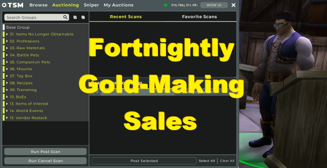 Fortnightly Gold-Making Sales