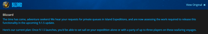 Blue Post on Island Expeditions in 9.1.5