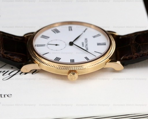 This yellow gold, enamel dial Ref. 5116 is just about perfect!