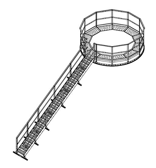 Greene Easy Step Roof Stairs for 102' Bin