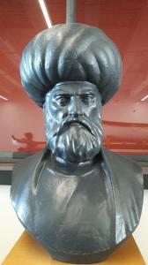 buste du pirate et corsaire, grand amiral ottoman, barberousse au musée de la mer d'istanbul en turquie