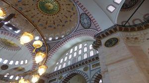 Intérieur de la Mosquée de Soliman le Magnifique - Süleymaniye à Istanbul