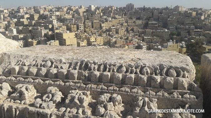 vue sur amman depuis la citadelle, jordanie